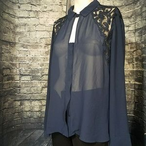 Guess sheer blouse